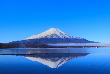 山中湖より富士山の写真素材 [FYI04095912]