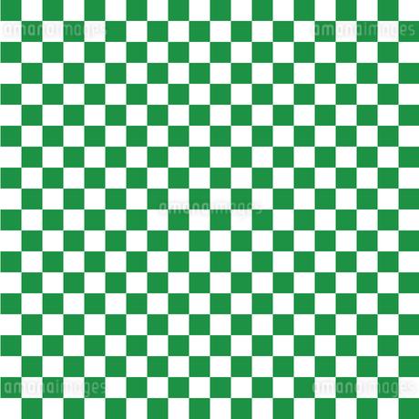 市松模様 緑 Sのイラスト素材 [FYI04096636]