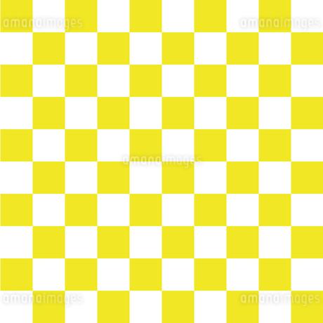 市松模様 黄色 Lのイラスト素材 [FYI04096641]