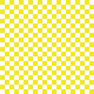 市松模様 黄色 Sのイラスト素材 [FYI04096642]