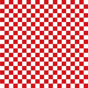 市松模様 金赤 Sのイラスト素材 [FYI04096644]