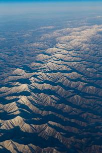 空から見た冬の北海道  日高山脈の写真素材 [FYI04096685]