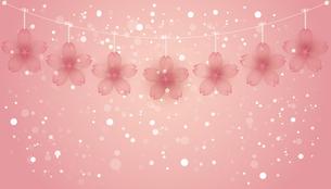 桜 オーナメント 背景のイラスト素材 [FYI04096711]