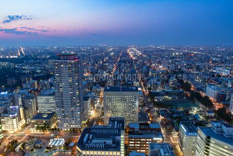 札幌の夜景の写真素材 [FYI04096734]
