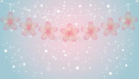 桜 オーナメント 背景のイラスト素材 [FYI04096910]