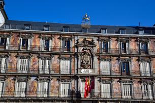 スペイン マドリッドのマヨール広場の写真素材 [FYI04097152]