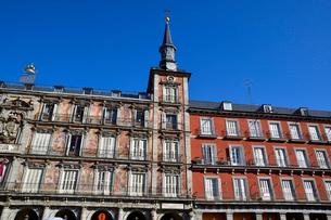 スペイン マドリッドのマヨール広場の写真素材 [FYI04097153]