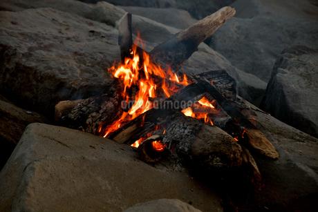 焚火の炎の写真素材 [FYI04097201]