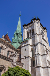 スイス、ジュネーブ旧市街、サン・ピエール大聖堂の写真素材 [FYI04097296]