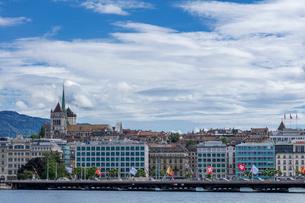 スイス、ジュネーブ旧市街とブティック街の写真素材 [FYI04097356]