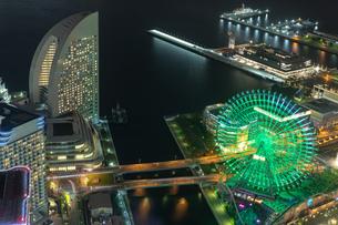 横浜の夜景 みなとみらいの写真素材 [FYI04097364]
