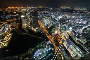横浜の夜景 みなとみらいの写真素材 [FYI04097384]