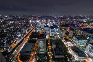 横浜の夜景 みなとみらいの写真素材 [FYI04097386]
