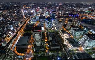 横浜の夜景 みなとみらいの写真素材 [FYI04097388]
