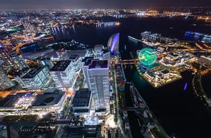 横浜の夜景 みなとみらいの写真素材 [FYI04097389]