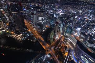 横浜の夜景 みなとみらいの写真素材 [FYI04097395]