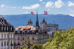 スイス、ジュネーブ旧市街、サン・ピエール大聖堂の写真素材 [FYI04097554]