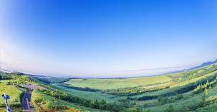 北海道 自然 風景 パノラマ 開陽台 (朝景)の写真素材 [FYI04097703]