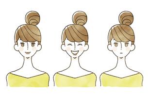 女性-表情のイラスト素材 [FYI04097922]