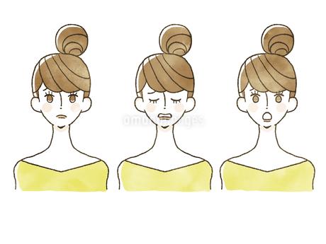 女性-表情のイラスト素材 [FYI04097923]