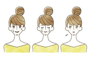 女性-表情のイラスト素材 [FYI04097926]