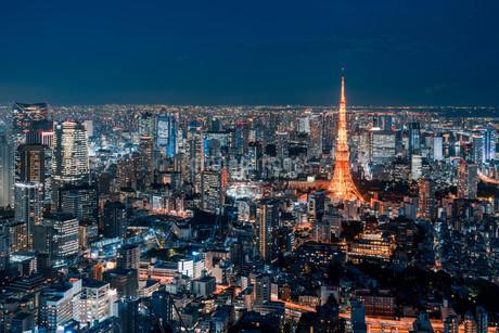 東京都心の夜景の写真素材 [FYI04098066]