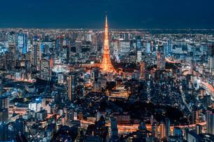 東京都心の夜景の写真素材 [FYI04098069]