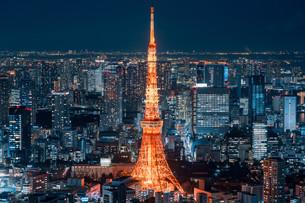 東京都心の夜景の写真素材 [FYI04098074]
