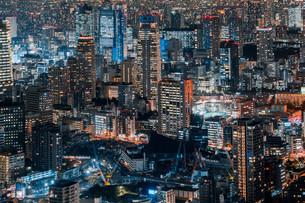 東京都心の夜景の写真素材 [FYI04098080]