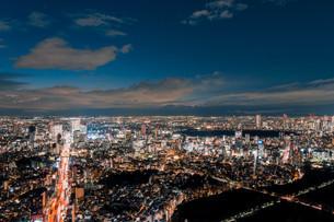 東京都心の夜景の写真素材 [FYI04098085]