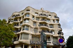 スペイン バルセロナのカサ・ミラの写真素材 [FYI04098419]