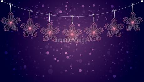 桜 オーナメント 背景のイラスト素材 [FYI04098422]
