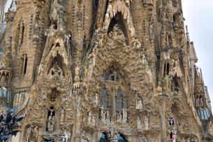 スペイン バルセロナのサグラダファミリアの写真素材 [FYI04098458]