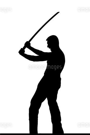 武道系中年男性シルエットのイラスト素材 [FYI04098550]