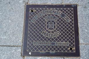 スペイン マドリッドの通りの表示板の写真素材 [FYI04098781]
