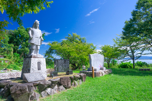 滋賀県 大津市 坂本城跡の写真素材 [FYI04098933]