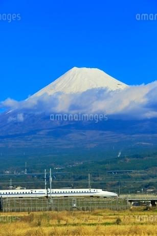 富士山と新幹線の写真素材 [FYI04098970]