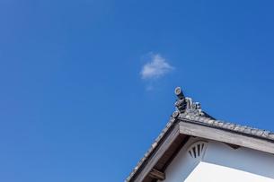 日本の風景、鬼瓦の写真素材 [FYI04099222]