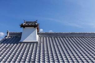 日本の風景、瓦屋根の写真素材 [FYI04099242]