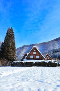 世界文化遺産 冬の白川郷の写真素材 [FYI04099339]