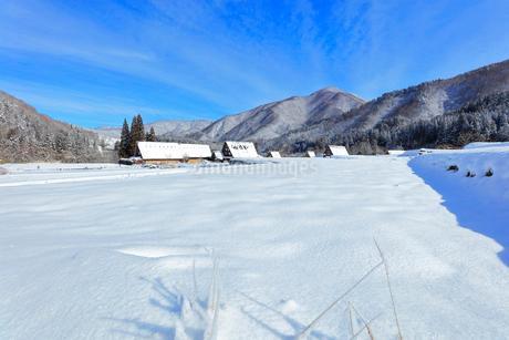 世界文化遺産 冬の白川郷の写真素材 [FYI04099355]
