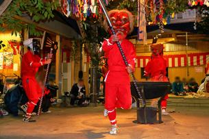 1月 奥三河の花祭りの写真素材 [FYI04099469]