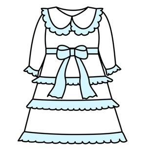 ベビー服 ドレスのイラスト素材 [FYI04099833]