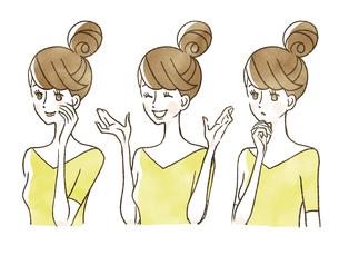 女性-表情のイラスト素材 [FYI04099986]