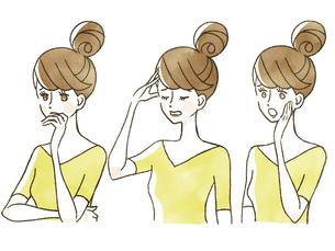 女性-表情のイラスト素材 [FYI04099987]