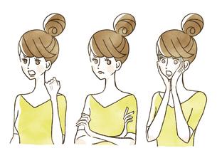 女性-表情のイラスト素材 [FYI04099988]