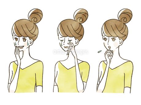 女性-表情のイラスト素材 [FYI04099989]