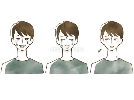 男性-表情のイラスト素材 [FYI04100038]