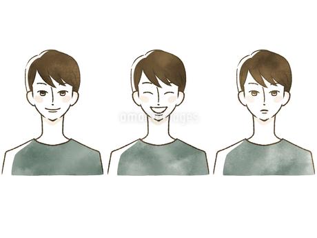 男性-表情のイラスト素材 [FYI04100039]