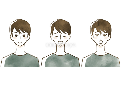男性-表情のイラスト素材 [FYI04100040]